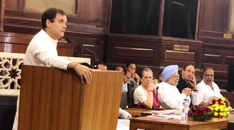 Mother Sonia defends him, son Rahul back to the job with same old temper after a week-long confusion
