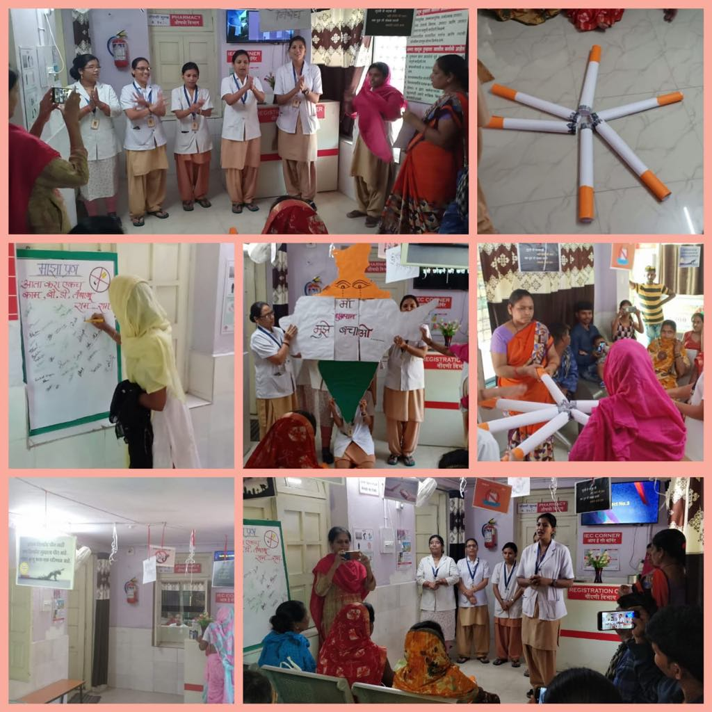 One the occasion of World Anti Tobacco Day, NMC health department in collaboration with Tata Trusts had organised various awareness activities across the city on May 31.