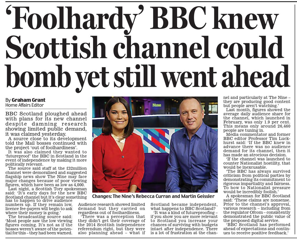 Time to put this channel out of its misery and put the £32 million to better use.