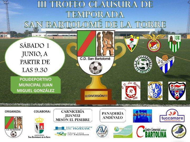 El Sporting Puerto de Huelva participa hoy con dos equipos alevines en el III Trofeo Clausura de Temporada San Bartolomé de la Torre.
