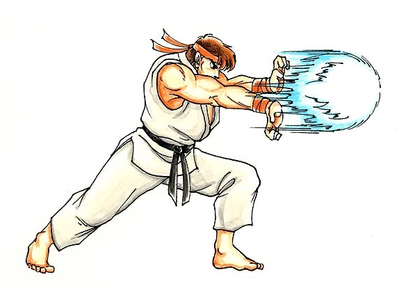 ryu street fighter 2 hadouken