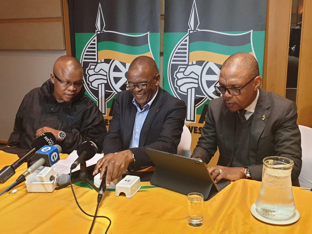 ANC SG @DrAceMagashule is about to brief the media on the outcomes of the Special #ANCNEC