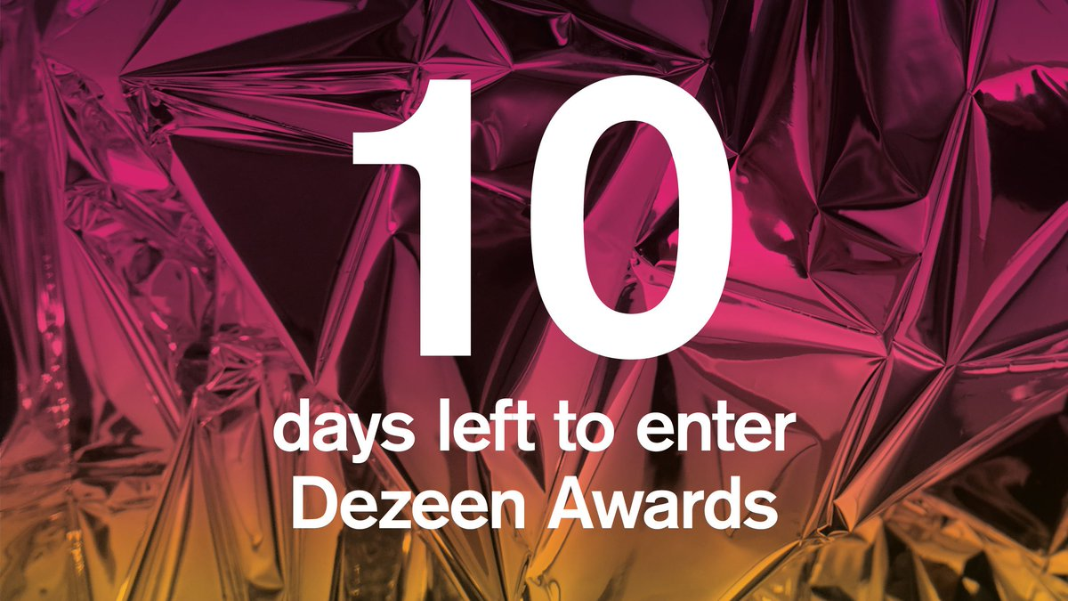 With 10 days to go until the @DezeenAwards 2019 deadline, heres what our judges will be looking for. Enter now: at.dezeen.com/2wb7oze