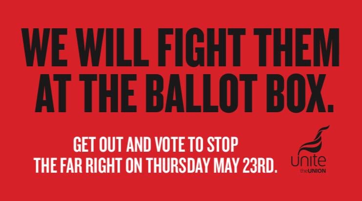 Our @UnitePolitics big billboard campaign to defeat the far right has just launched across the NW. Keep your eyes peeled for one of 45 billboards and share your pics.