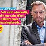 Image for the Tweet beginning: Wort halten, Soli abschaffen! Wenn