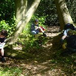 Our Year 5 boys enjoyed working on their #art picking up on #eco theme Green Man in our #outdoor classroom last week. Initial exploration studying leaf forms #outdoorlearning #nature @GoodSchoolsUK #OutdoorClassroomDay @bbceducation @BBCNatureUK @MumsnetKent
