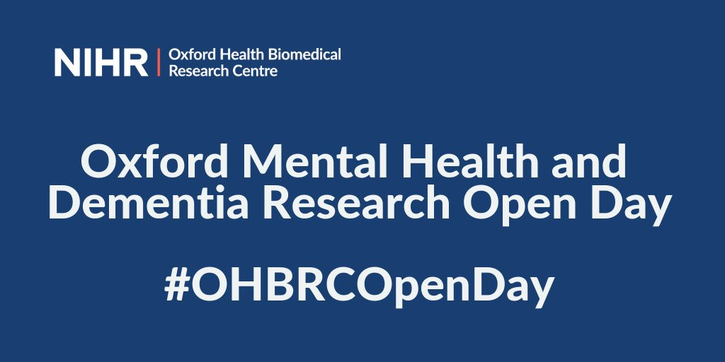 Exciting to hear @ClareEMackay, @OxHealthBRC Theme Lead for Older Adults and Dementia, talking about the impact of establishing a brain health centre in Oxford & its potential to improve treatment for patients experiencing memory problems. #OHBRCOpenDay @OxPsychiatry