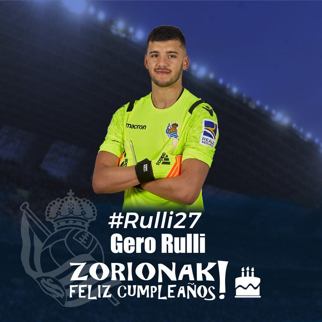 🎂 Gaur @GeroRulli -ren urtebetetzea da!  Zorionak Gero! 🎂🎉🎉  #AurreraReala #RealSociedad