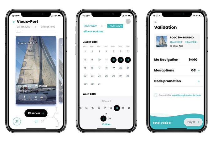 D7AZ59 XYAECDYC?format=jpg&name=small - Une application pour louer des voiliers en libre-service (Made In Marseille mai 2019)