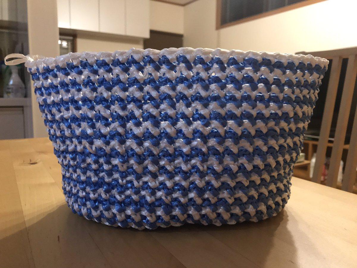 test ツイッターメディア - 去年の夏からやってみたかった梱包用ビニールテープでバッグを編み編み。#ダイソー #かぎ針編み https://t.co/9rQi2Z0DJx