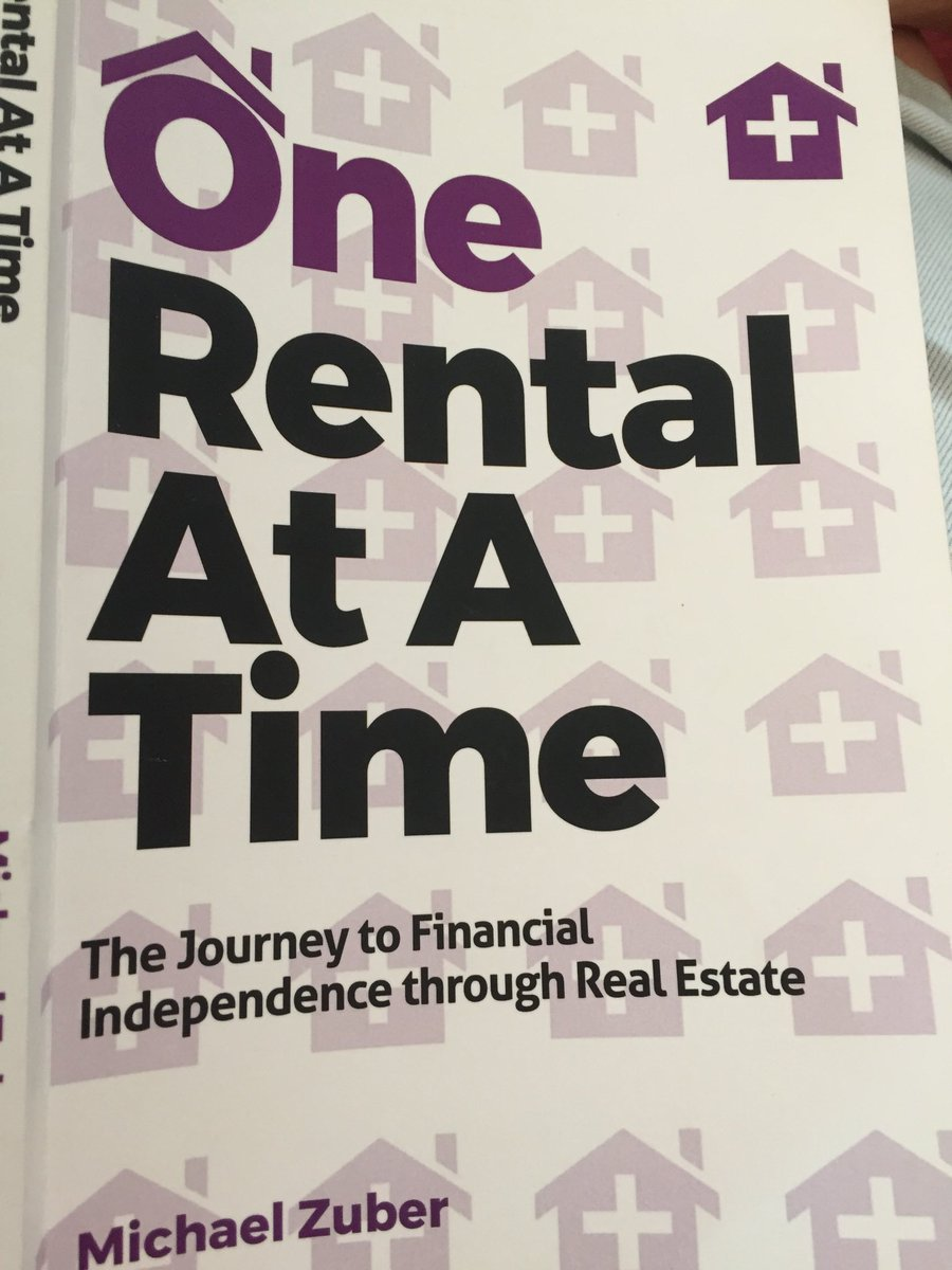 Just finished your book & loved it. I currently own 2 rentals, both w positive cash flow. Looking for 2 more. #motivated #onerentalatatime pic.twitter.com/SDTmWYZqON
