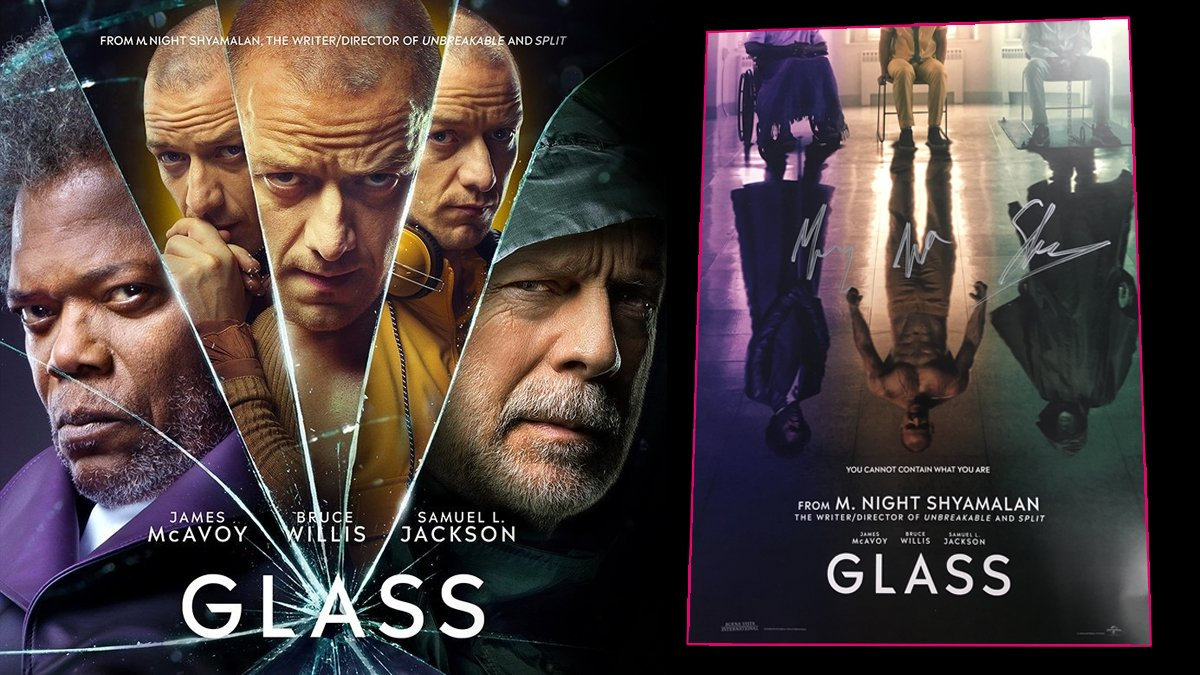 To celebrate the release of #Glassmovie, you could be in with a chance of winning a poster signed by @SamuelLJackson, James McAvoy &amp; Bruce Willis. To enter, simply RT &amp; tell us which of the three characters is your favourite and why, using #HMVGlassComp. 1/2<br>http://pic.twitter.com/ZKg8Derorg