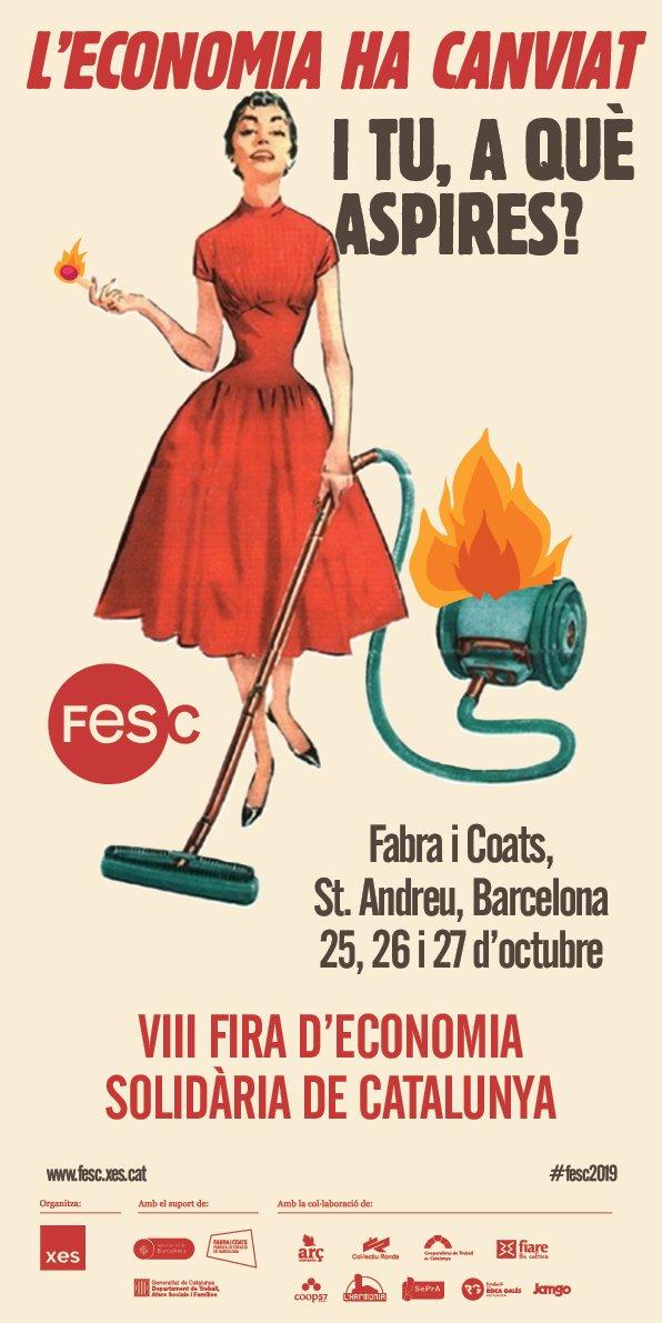 📢 Extra, extra: la @XES_cat saca cartel para la #Fesc2019.  💻Para no perderse nada sobre las inscripciones, programa y otras novedades, consultad la web: http://fesc.xes.cat/  ‼️Por cierto, enhorabuena por el cartel, sugerente a más no poder...