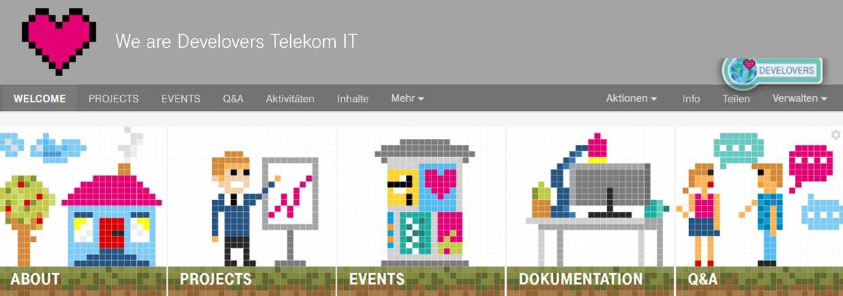 Social Media Post: ++Karriere bei Telekom IT++ Als Dienstleister der Telekom designen...