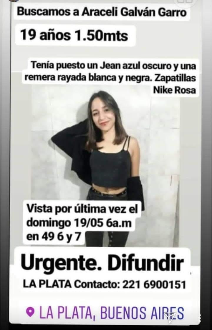 Una joven estudiante de #Rawson #Chubut desapareció en #LaPlata  Fue vista por última vez el 19/5 a las 6am. Su mamá ya está viajando para tener más información y colaborar en la búsqueda .