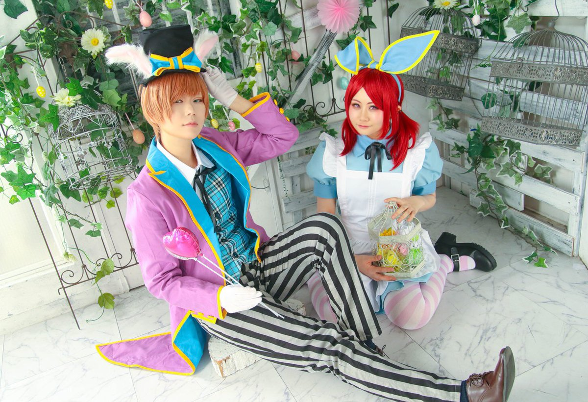 RT @16nkm_levbrk: Cosplay WT   🐰🌼Happy Easter🎀🎩  Akane H: 海苔 Toru N: べに Photo: 秋良 https://t.co/6dxKwuFESh