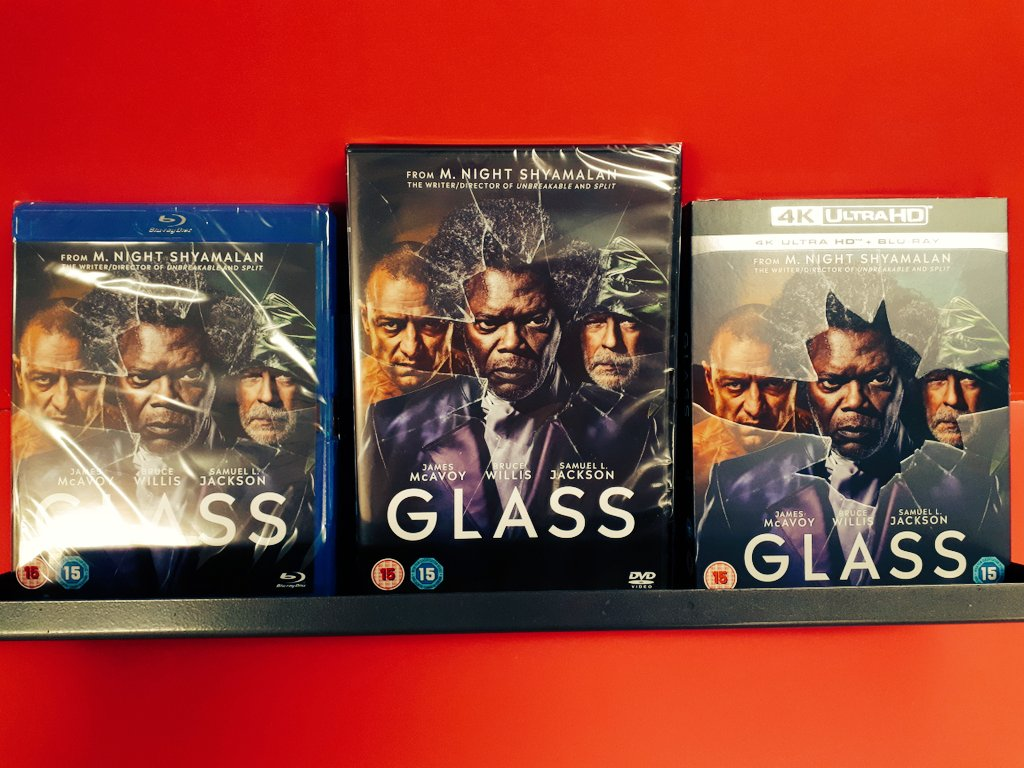 NEW RELEASE MONDAY KLAXON   For you #MNightShyamalan fans, #glassmovie is out today! Get your pick on DVD, Blu-Ray and 4K now! <br>http://pic.twitter.com/tHl2osB1hw