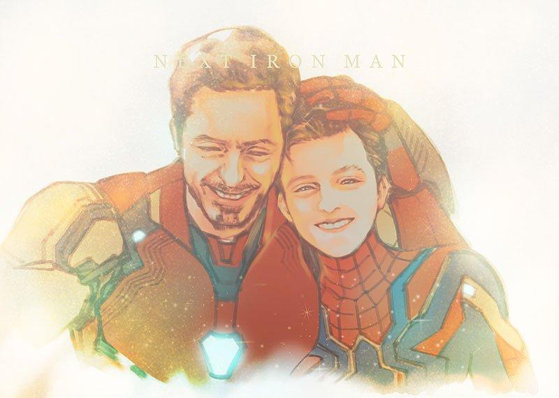 受け継がれゆく意思 #ironman #SpiderMan #AvangersEndgame