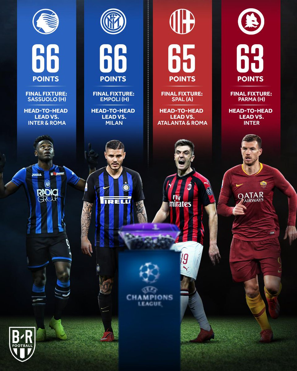 Image result for ac milan vs inter vs as roma vs atalanta