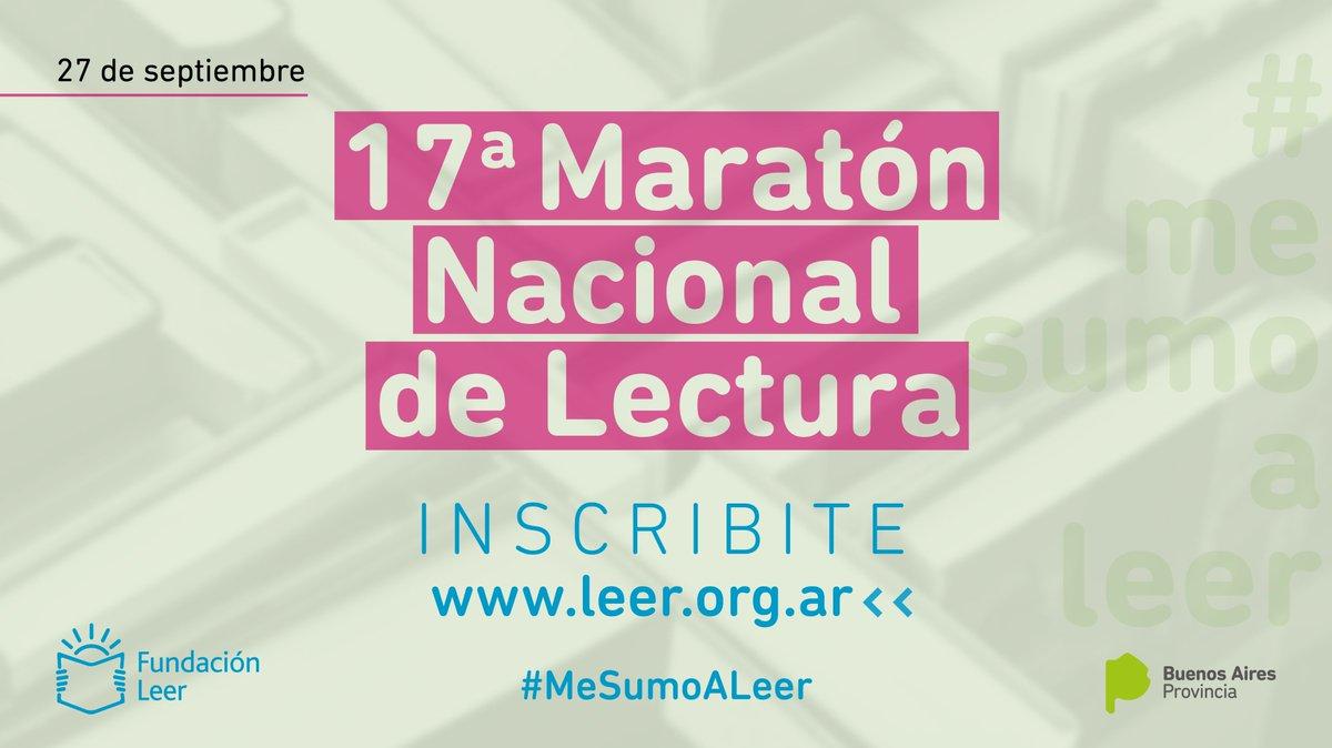 Las escuelas de la #ProvinciaBA ya pueden inscribirse en la Maratón Nacional de Lectura y descargar la guía de actividades 👉 http://www.abc.gob.ar/Abrio-la-inscripcion-para-la-1-7-Maraton-Nacional-de-Lectura…  #MeSumoALeer