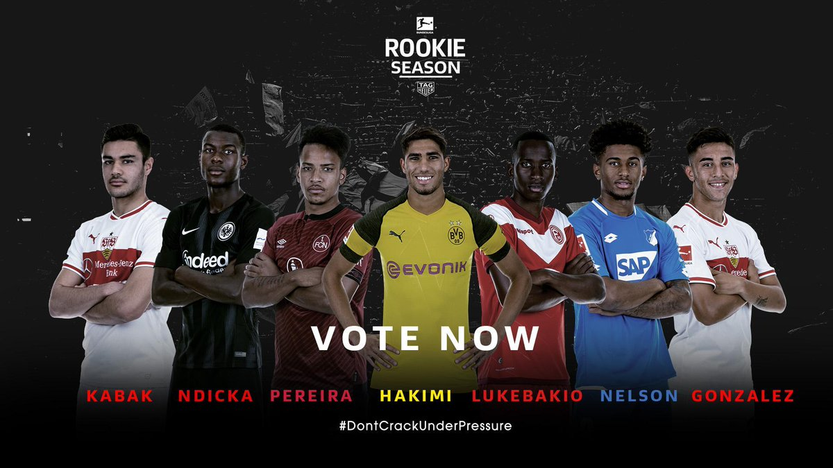 The 7️⃣ candidates for the 2018/19 #BLRookie of the Season award by @TAGHeuer ⭐⌚   It's time to cast your vote 👉    #DontCrackUnderPressure