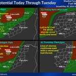 Image for the Tweet beginning: Severe potential for today and