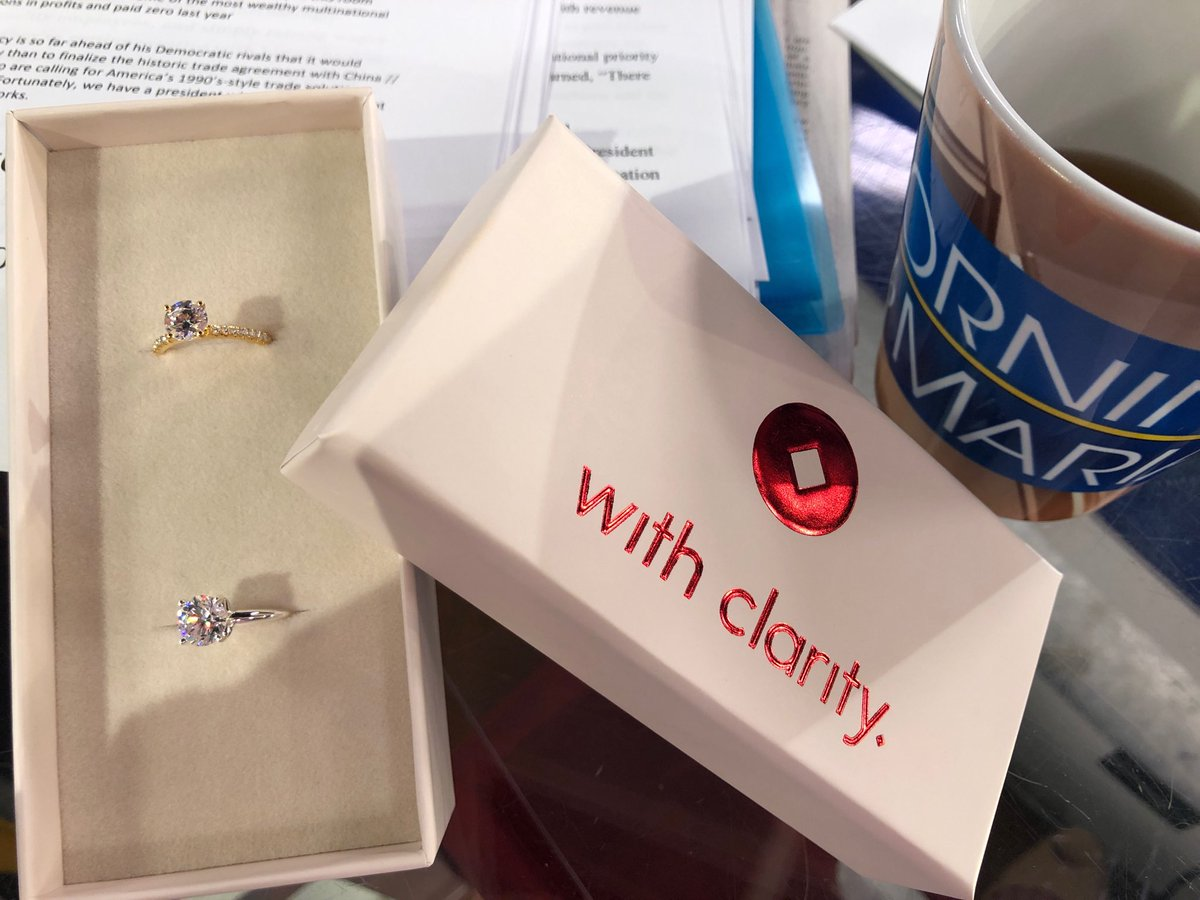 These are 3D printed engagement rings.  @MyWithClarity @MorningsMaria @FoxBusiness try before you buy. Join us now