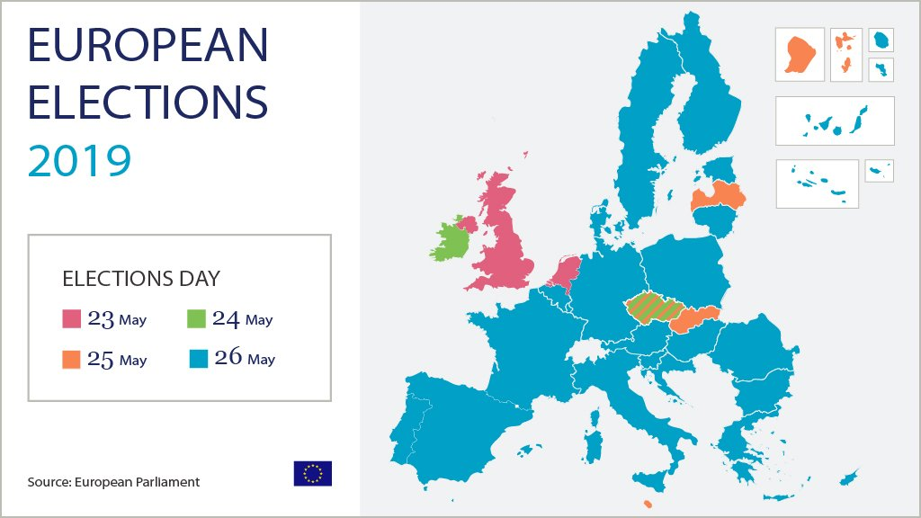 Only a few more days until the European elections start! Check the map below to find out on what day the elections are held in your country. Information on how to vote can be found here european-elections.eu./