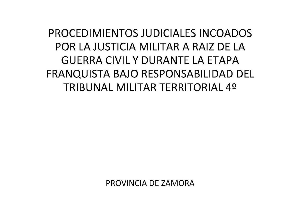 📢 Ya puedes consultar el listado de Consejos de Guerra de la provincia de #Zamora en nuestra web 👉bit.ly/2LLLixB 3164 procedimientos conservados en el Archivo Intermedio Militar Noroeste #archivos #ArchivosDeDefensa #MemoriaHistórica