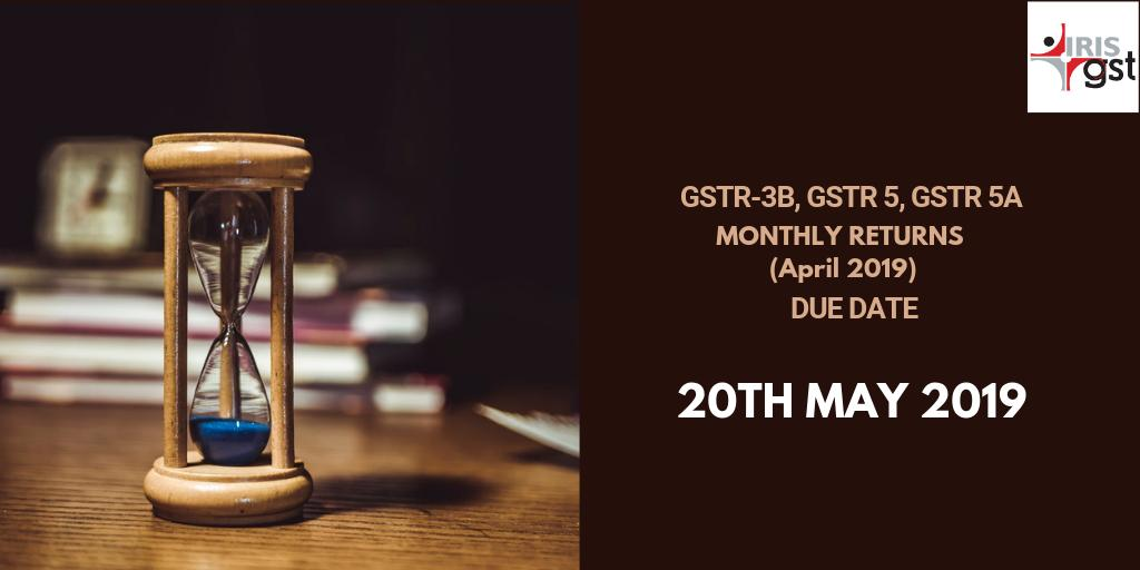 Attention GST filers,  today is the last day to file your #return forms #GSTR3B, #GSTR5 and #GSTR5A. We wish you a happy compliance!