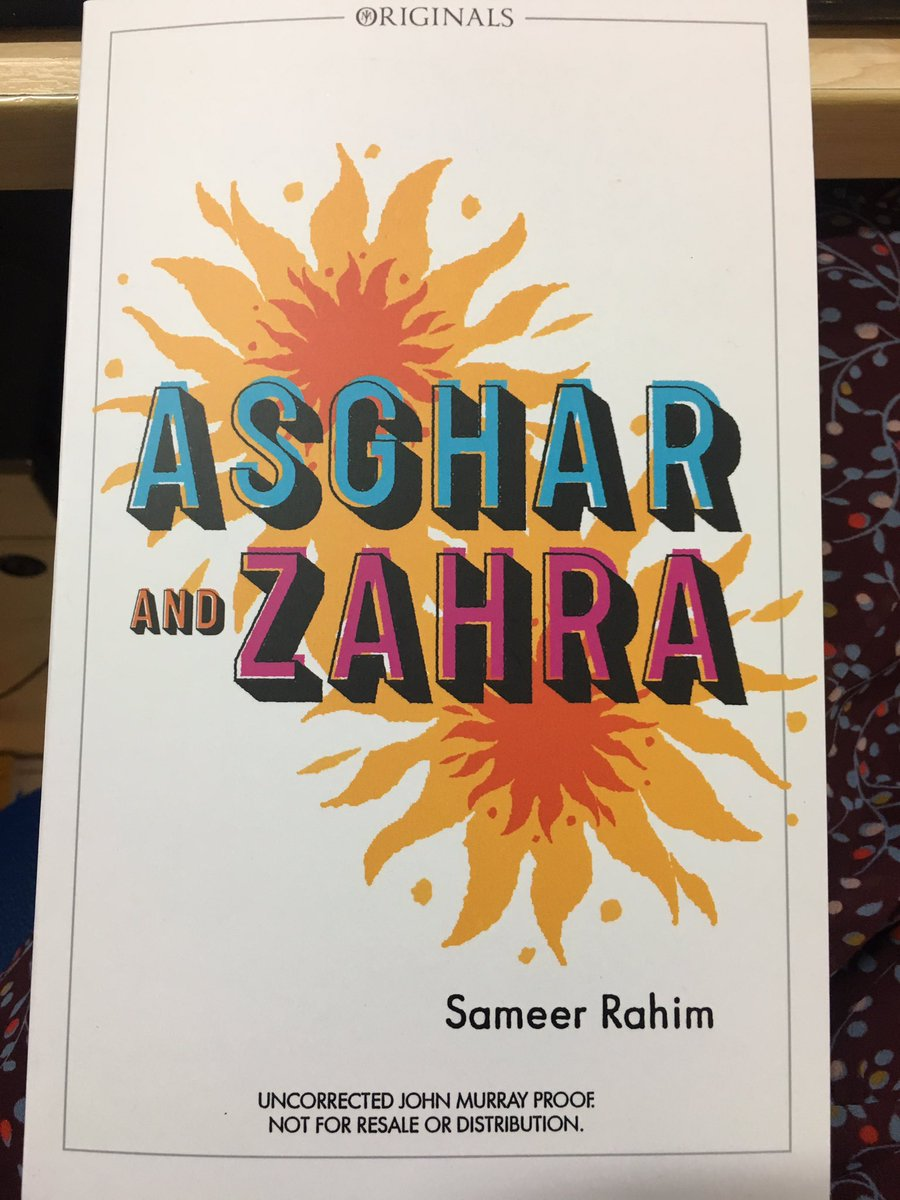 Genuinely excited to get this in the post. Debut novel from @sameerahim