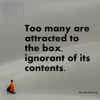 RT @Tao_not_Dow: Too many are attracted to the box, ignorant of its contents. https://t.co/D6FN5GI2zW https://t.co/weCLc3EK3B