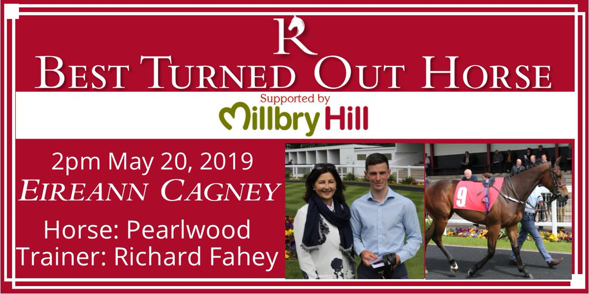 The weather has turned out nicely, and so have the horses for our first race! Best Turned Out is Pearlwood, led up by Eireann Cagney for @RichardFahey. Liz Jones from @MillbryHill joins us once again to present Eirrean with a cash prize, a voucher, and a rosette.