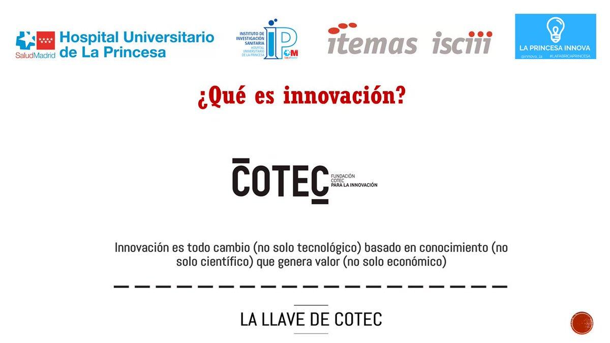 Como siempre, tomamos prestada una definición de innovación que nos gusta mucho @Cotec_Innova