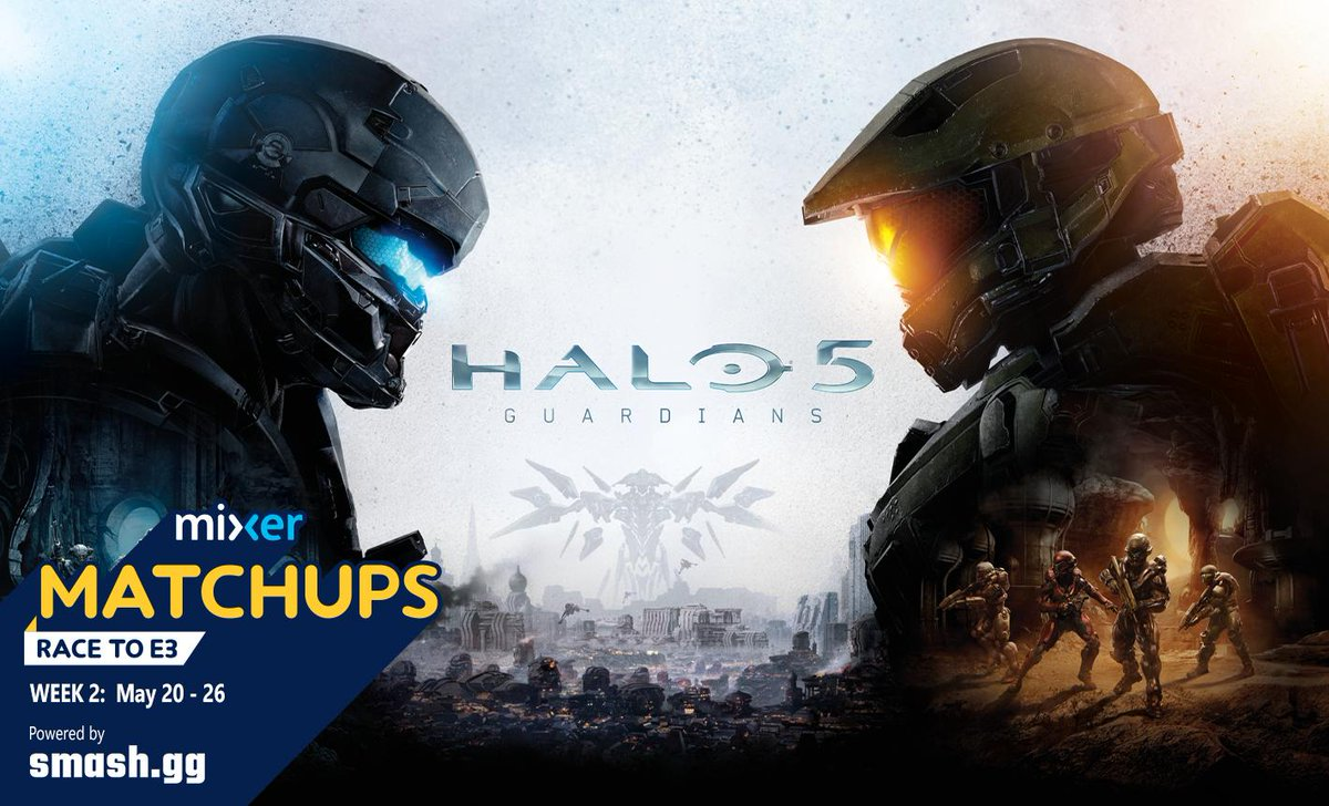 Play Halo 5s ranked Slayer playlist while broadcasting on @WatchMixer for a chance to win embers, cash prizes, and a trip to E3. Our portion of the Mixer Matchups: #RaceToE3 competition is now underway! Register now at Matchups.Mixer.com!