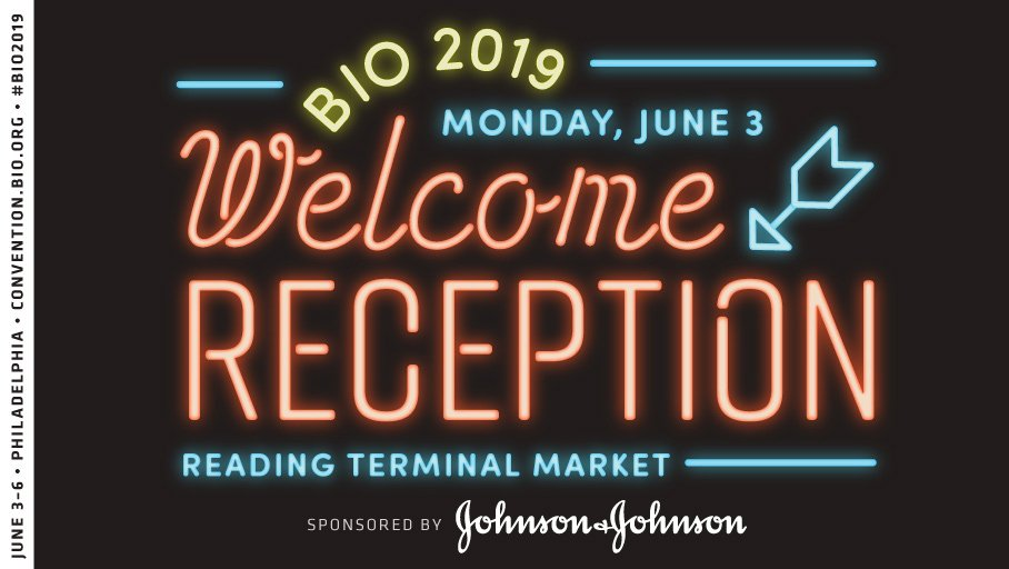 Just 2 weeks until #BIO2019 takes over @RdgTerminalMkt for our Welcome Reception! Thank you @JNJNews for sponsoring this event.