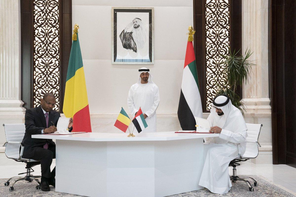 RT @MohamedBinZayed: محمد بن زايد يشهد توقيع عدد من الاتفاقيات ومذكرات التفاهم بين دولة الإمارات وجمهورية مالي. https://t.co/h7oVjjcbJI