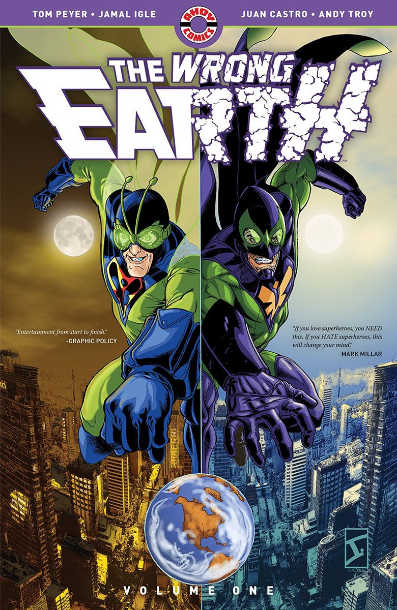 On Earth-Omega, vigilante Dragonfly punishes evil maniacs. On Earth-Alpha, crook-catcher Dragonflyman maintains justice. Now they're trapped on each other's worlds, where even the good guys don't share their values! Read THE WRONG EARTH on #Edelweiss: https://www.edelweiss.plus/#sku=0998044202