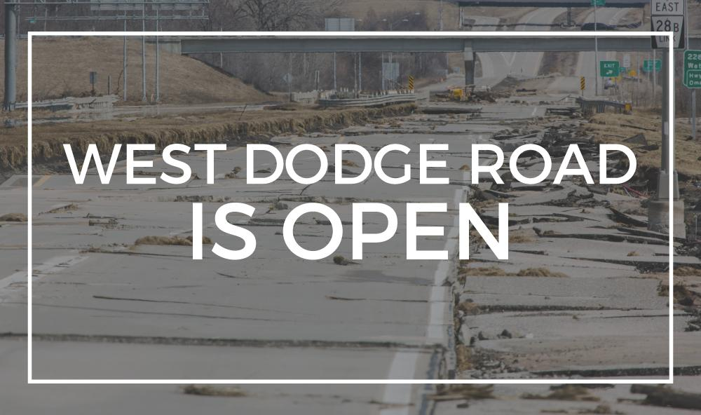 Great news!! West Dodge Road (L-28B) at 228th Street west of the Elkhorn River will reopen late this afternoon! We partnered with Hawkins Construction to expedite reconstruction and open the roadway three weeks ahead of schedule. More info: https://t.co/F7L9KhrUx6 https://t.co/CxUO5hunxI