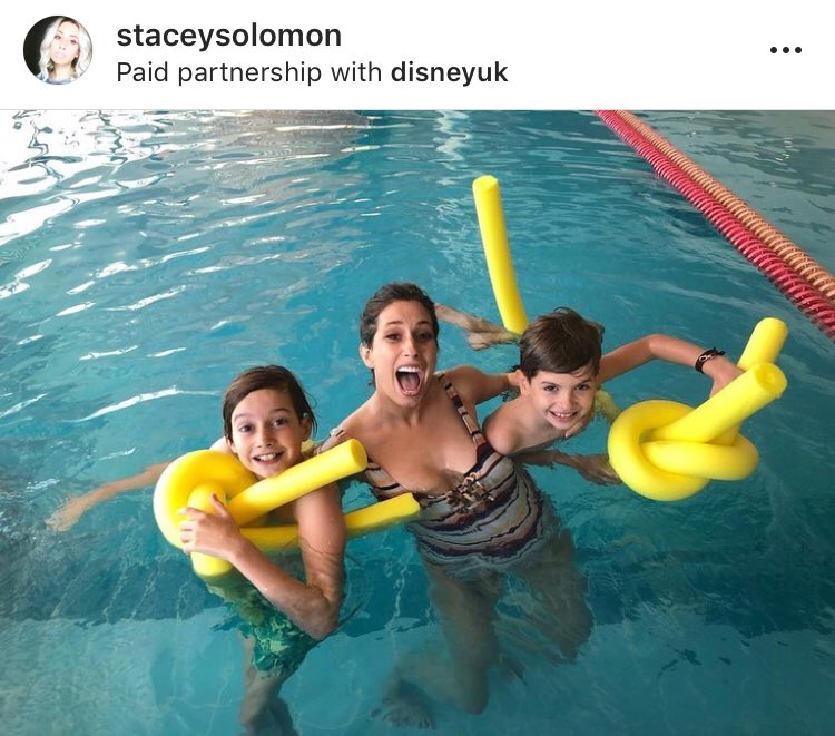 We're thrilled that @StaceySolomon is supporting the @DisneyUK inspired family fun sessions that are coming to 250 pools across the country next month. Find out more at http://swimming.org/disney