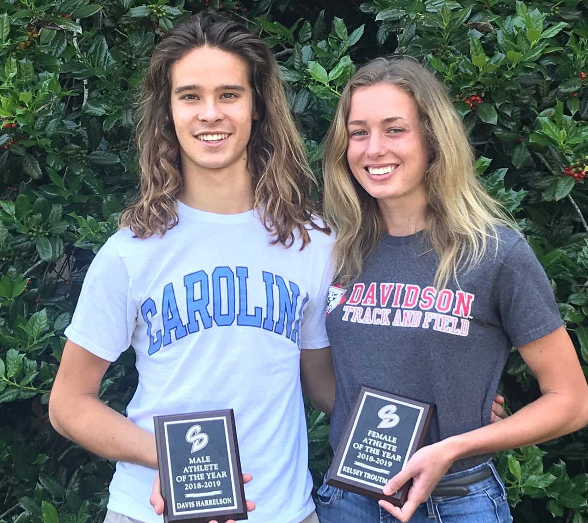 Congratulations Davis Harrelson and Kelsey Troutman, Senior Athletes of the Year! #GoLions