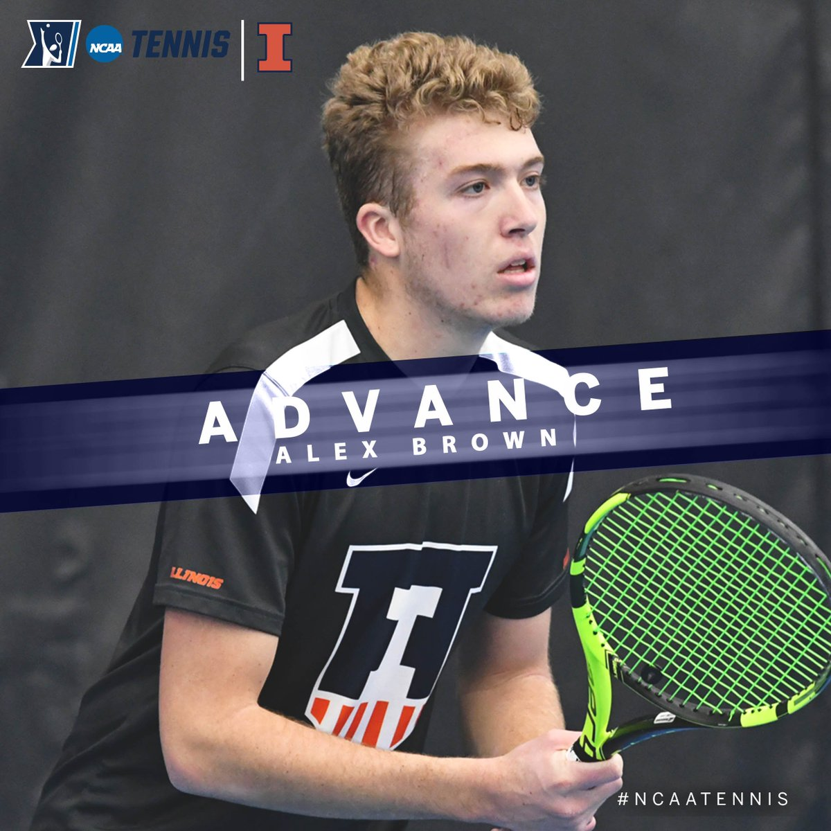 On the men's side, Alex Brown of @IlliniMTennis defeated Ryotaro Matsumura of Kentucky, 6-3, 6-1, in the @NCAATennis Singles First Round on Monday in Orlando.