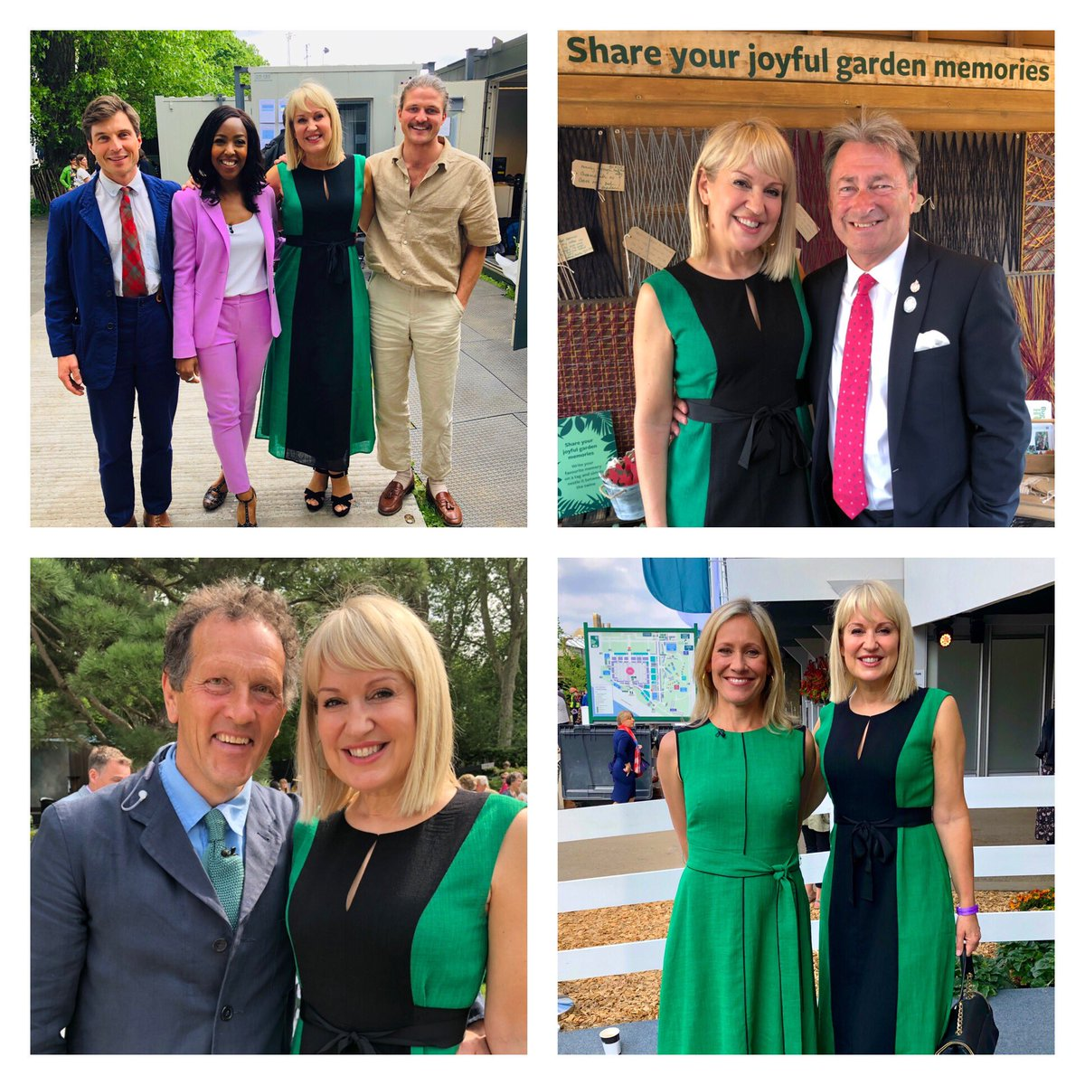 A wonderful morning! 1st proper outing since the op & what a tonic. Thks @The_RHS @BBC. Caught up with friendly faces @angellicabell @therichbrothers #alantitchmarsh @sophieraworth (we got the green memo) & @TheMontyDon #RHSChelseaFlowerShow2019 I'll be watching @BBCOne @BBCTwo