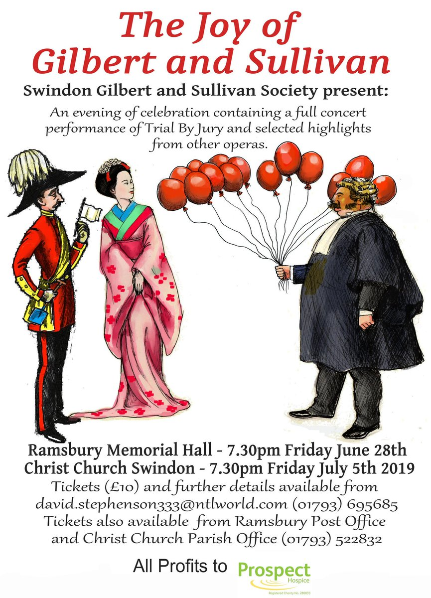Join us for our summer concerts in Ramsbury and Swindon and help support Prospect. Full details in the picture!