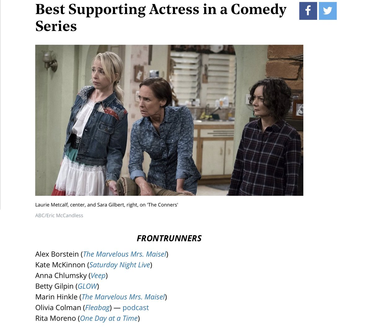 @MikeRoyce @everythingloria Yes, please recognize the fabulous #RitaMoreno #OneDayAtATime Best Supporting Actress in a Comedy Series - Feinberg Forecast: Scott&#39;s First Read of the 2019 Emmys Race  https://www. hollywoodreporter.com/lists/feinberg -forecast-2019-emmy-predictions-1185853/item/best-supporting-actress-a-comedy-series-1203242 &nbsp; …  via @THR<br>http://pic.twitter.com/S3kw48pcNz