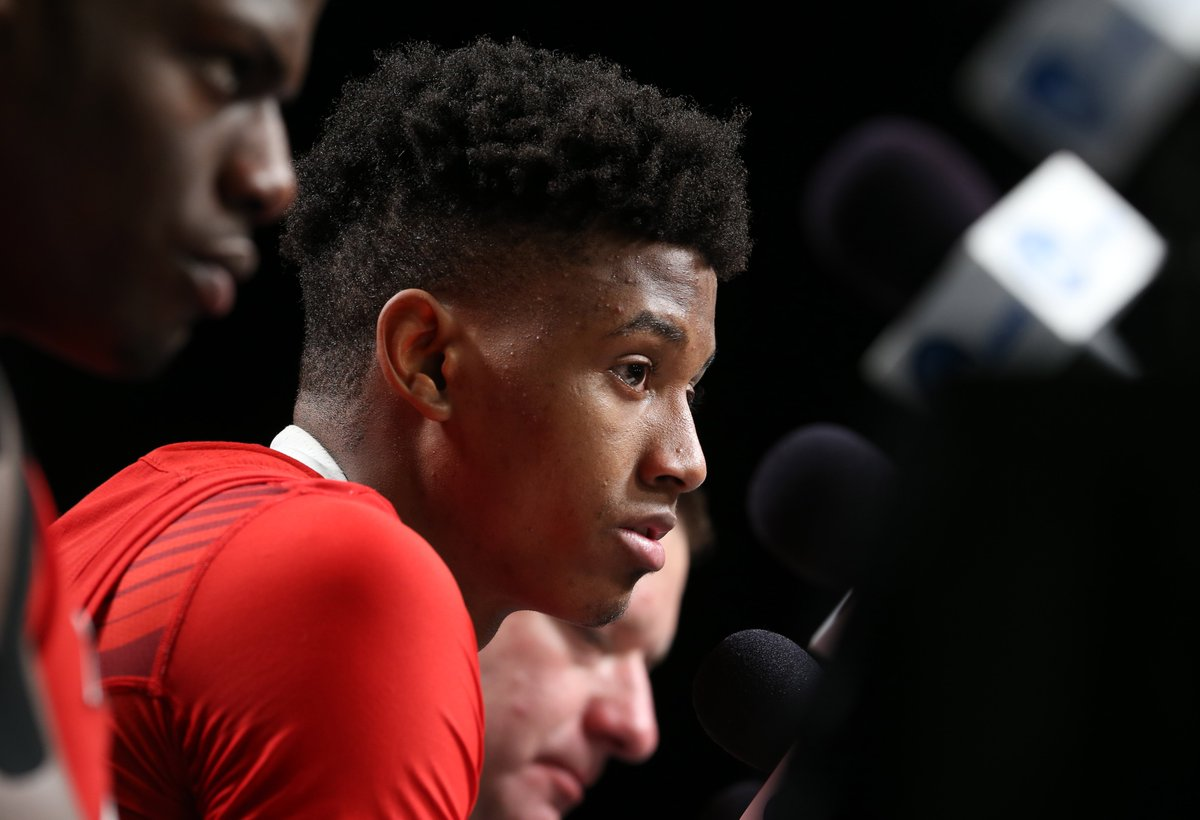 """Sitdown with top NBA Draft prospect @jarrettc08: Values from his father who is a pastor, growing up in church, competitiveness and continuing to stay aggressive even on off nights. """"I still keep shooting because I know I put in the work."""""""