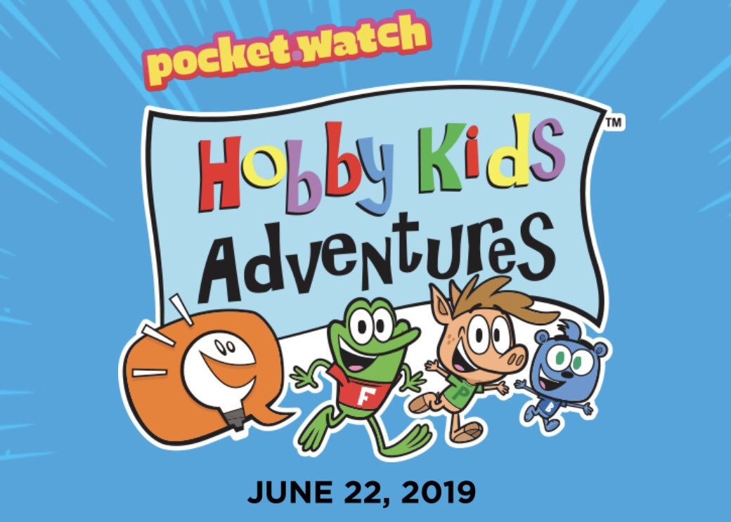 So excited to announce a NEW CARTOON I'm working on with the amazing HOBBY KIDS and @pocketwatchhq! Out June 22! https://youtu.be/owFrQdSGukg