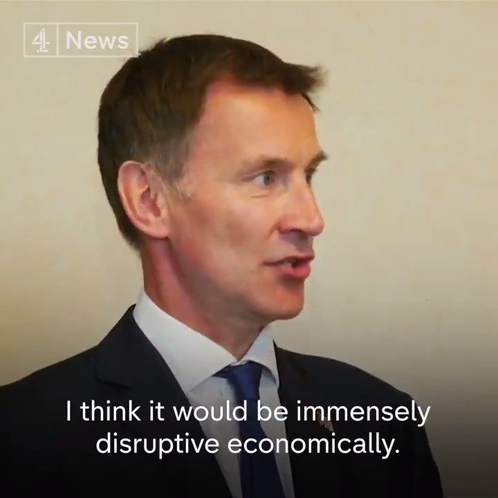 """I would never advocate a no-deal Brexit… [but] you can't take these options off the table."" Foreign Secretary Jeremy Hunt says the public want Brexit sorted ""as quickly as possible"", and declines to reveal whether he'd like to be the next Prime Minister."