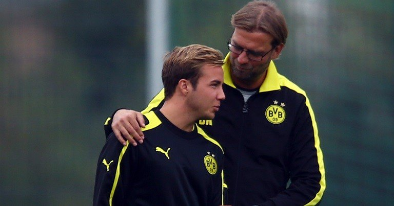 Mario Gotze on Klopp: When I was 17 or 18, and not giving 100% in training, he would be so intimidating. He used to come running over and get right up in my face and start shouting at me.