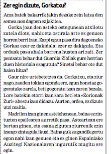 Gaur gogoratu dut Lutxi Mintegik, Gorka Lupiañezen amak, gutun latza idatzi zuela @berria-n, semea inkomunikazio aldian zela.